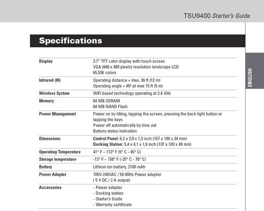 Philips TSU9400 Remote Control Features Massive LCD, WiFi