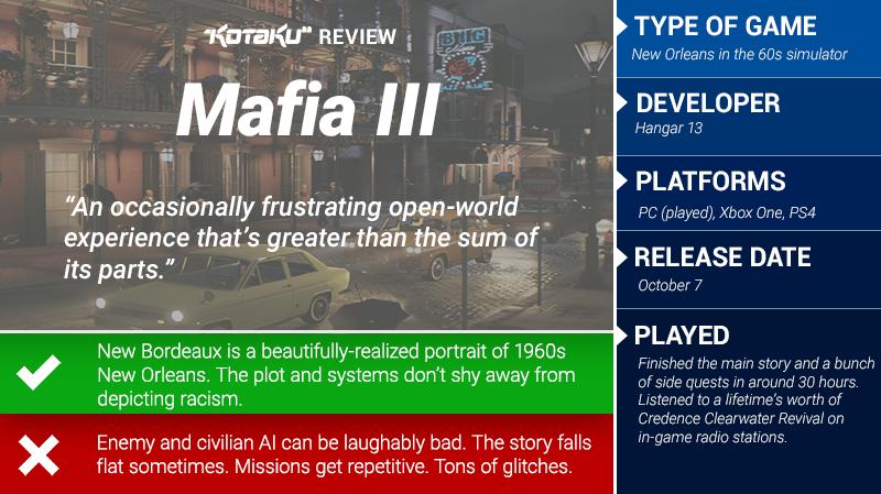 Mafia III: The Kotaku Review