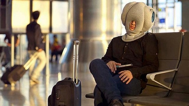 Ostrich Pillow entombs your head for portable naps and public shaming