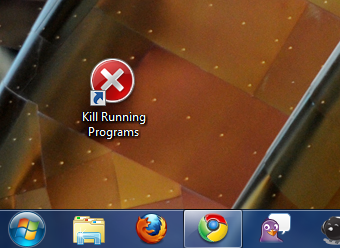 Create a Shortcut that Quits Every Running Windows Program
