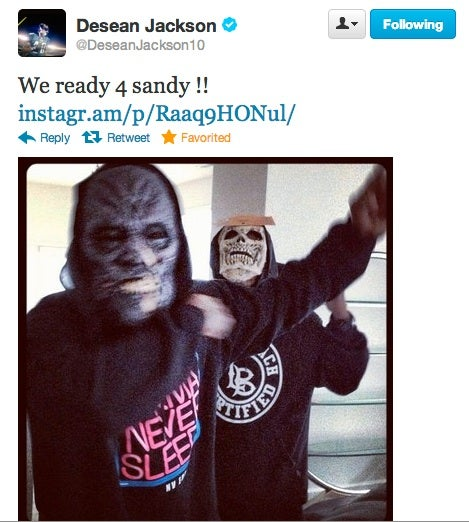 Here Is A Hurricane-Related Tweet From DeSean Jackson, Presented Without Comment