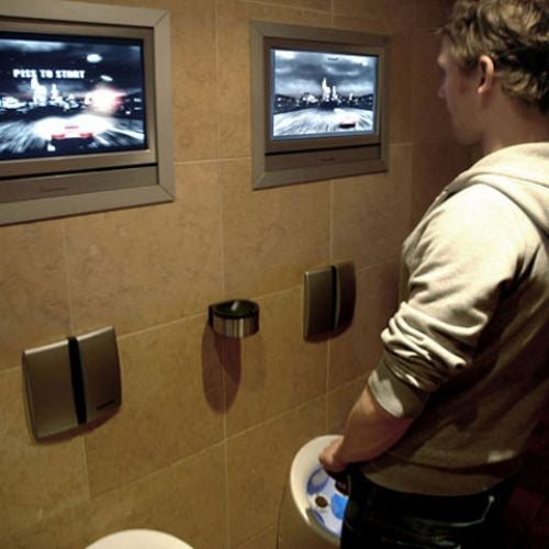 Piss-Screen Urinal Game Discourages Drunk Driving