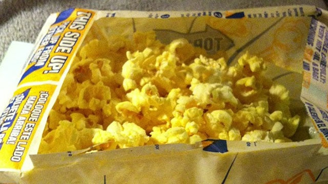 Turn a Popcorn Bag into a Bowl for Mess-Free Munching