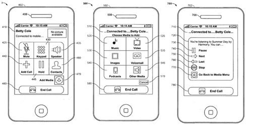 Apple Patent Describes Mid-Call Music, Video, Picture Sharing for iPhone
