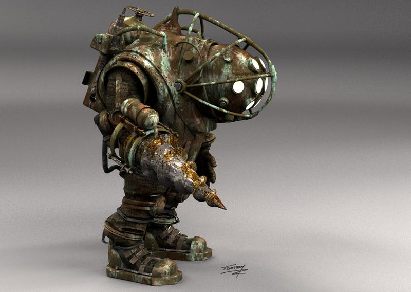 Who's your Big Daddy? Concept art from that cancelled Bioshock movie