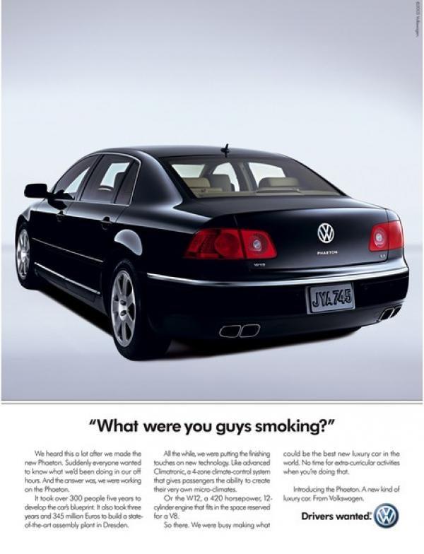 Phaeton Ads Are Brilliant