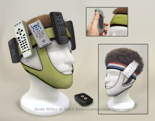 Attach Spare Remotes to Your Face with the Remote Control Wrangler