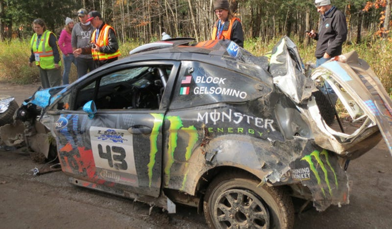 Watch The Scary Crash That Crushed Ken Block's Car
