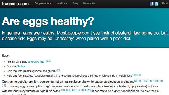 Examine.com Is an FAQ for All Things Health and Nutrition