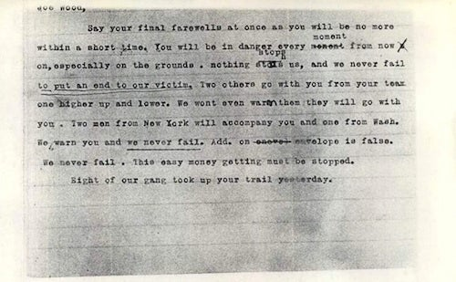 99 Years Ago, A Pitcher Received This Death Threat