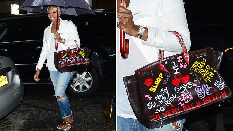 Nene Leakes Defiles Expensive Birkin Bag With Shitty 'RHOA' Quotes