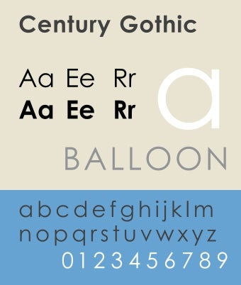 Print in Century Gothic Font for Ink Savings