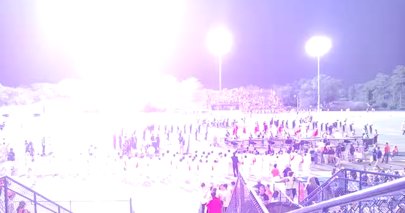 The Moment Lightning Struck At A High School Football Game