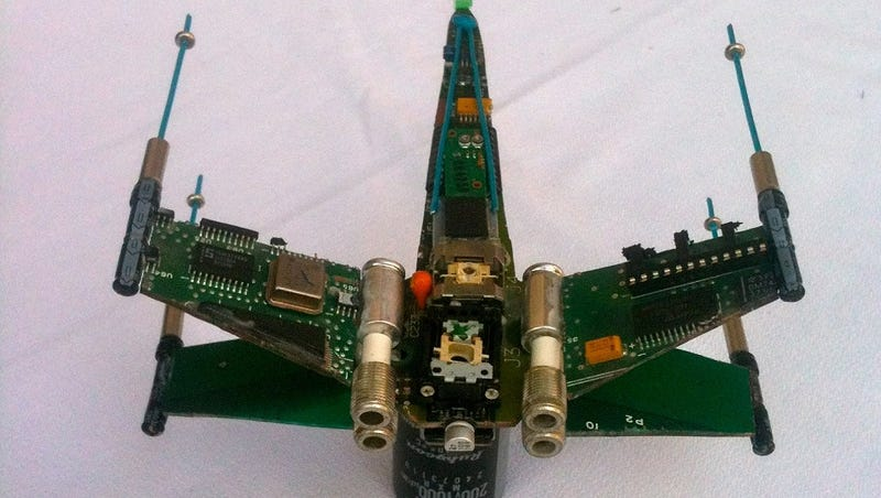Famous Starships Made Out of Old Computer Parts