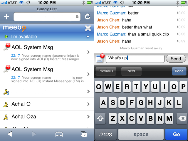 Meebo Goes iPhone Compatible With the Best Fully Optimized Mobile IM Client
