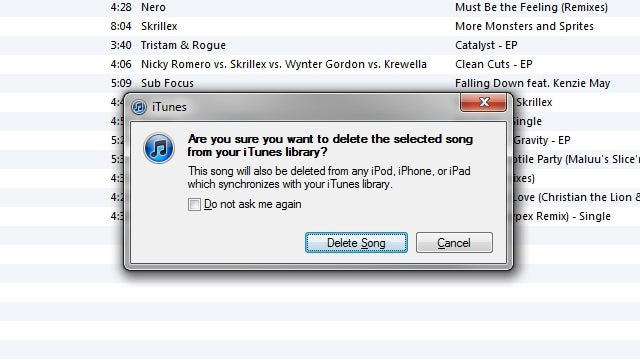 How to Delete a Song from Your iTunes Library from the Playlist View