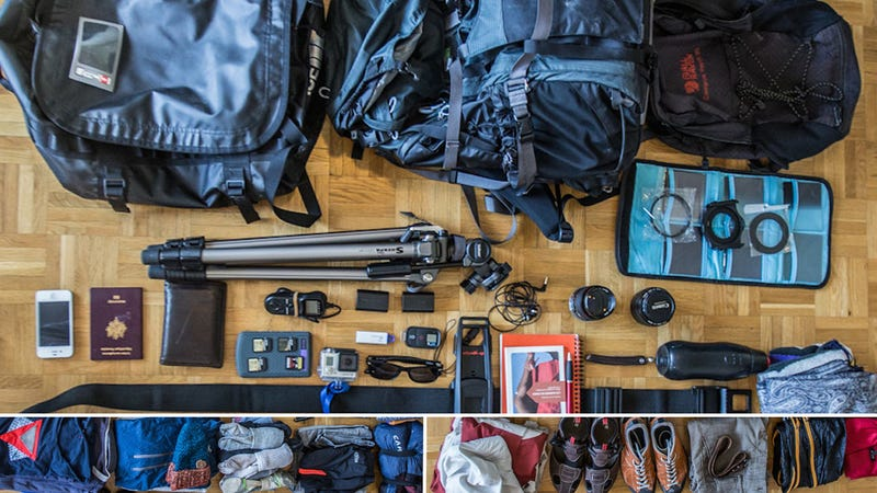 The Traveling Photographer's Fully Loaded Bags