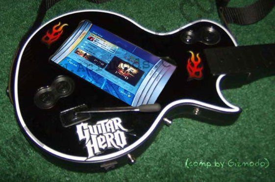 Guitar Hero III Guitar Modded with Magnetic Switch and Touch Screen