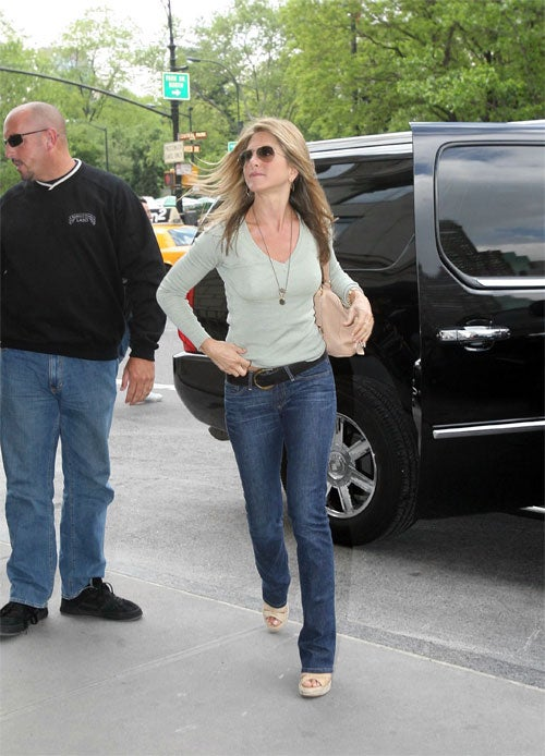 Jennifer Aniston Exhibits A New Spring In Her Step