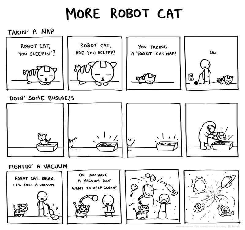 TAY Time Chat: Mundane Conversations of a Robot Cat