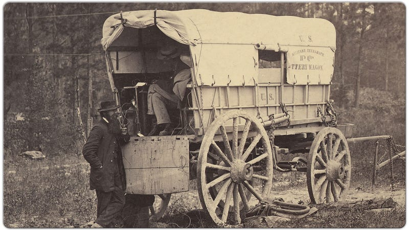 The First Car Phone Was The Civil War Telegraph Wagon
