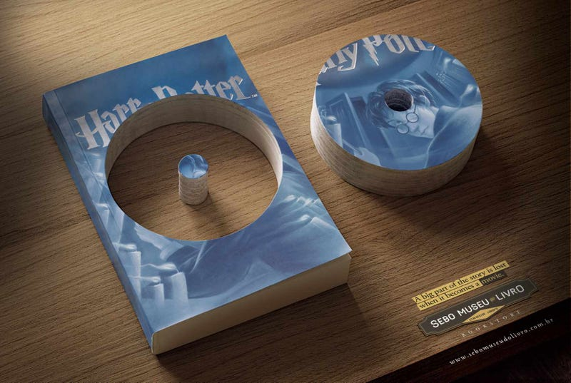 These ads explain why books are always better than movies
