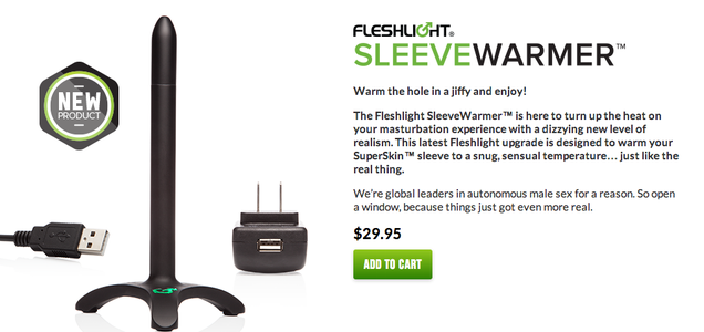 Fleshlight Now Offers a Heated Rod to Warm Up a Plastic Vagina