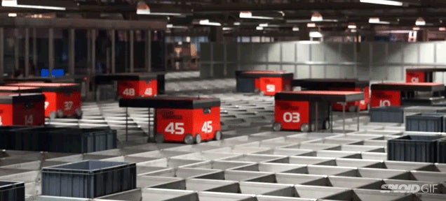 These robot warehouse workers are really fun to watch