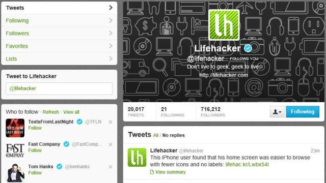 Follow Lifehacker on Twitter to Get All Our Stories When They Happen