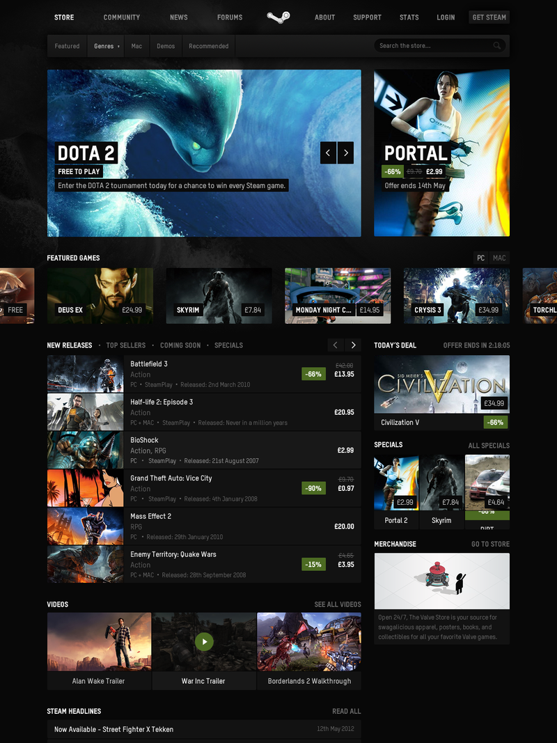 Designing a Better Steam, For PC and TV (and Phones!)
