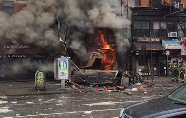 Building in East Village Collapses Following Reported Explosion