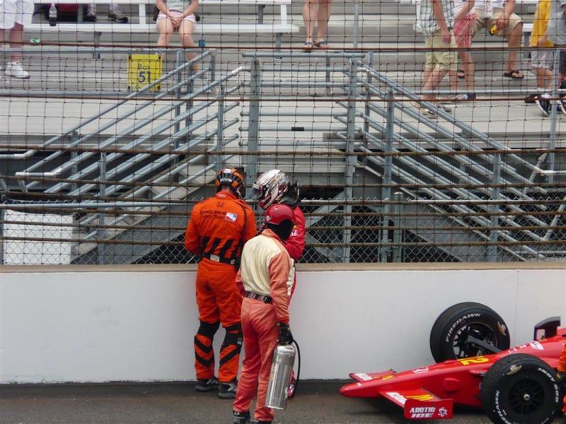 Graham Rahal Crashes Exiting Turn Four, Dixon Takes Lead