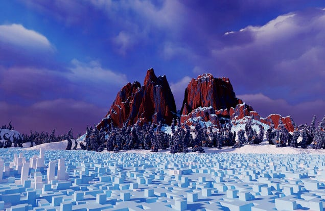 A Surprisingly Picturesque Scene From a Barren Icy Rock  Kotaku UK