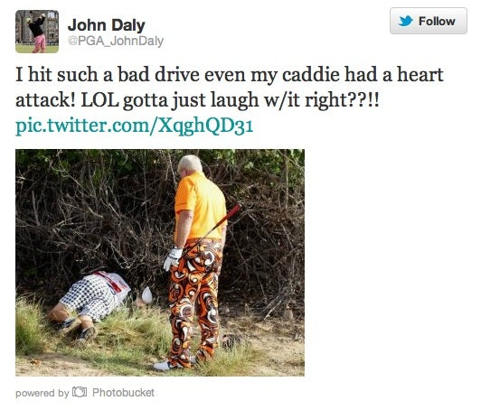 Caddy Loses Green Card, Hotel Carpets Are Dirty, Car Bomb Ruins Tee Times: John Daly Reports From The East