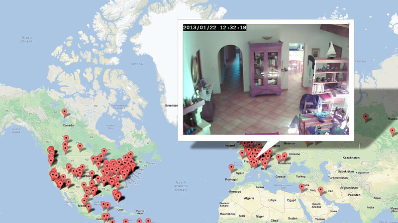 El mapa mundial de las cámaras web hackeadas