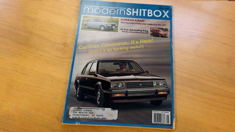 I Was So Excited To Score This Old '80s Car Magazine
