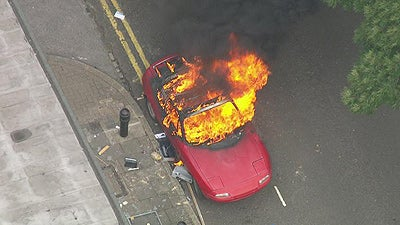 Dear London rioters, please stop setting cars on fire