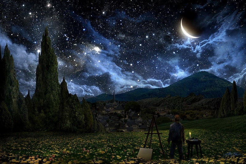 This stunning painting imagines the real sky that inspired The Starry Night