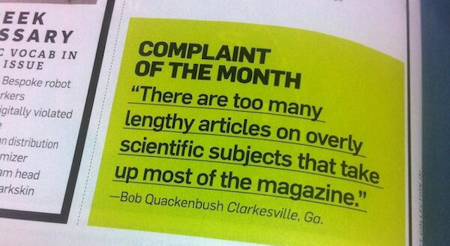 Why does Popular Science have to be so... science-y?
