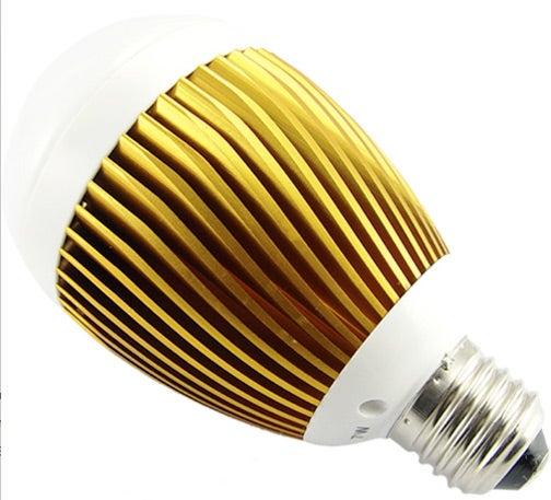 LED Bulb Features Gnarly Golden Heatsink