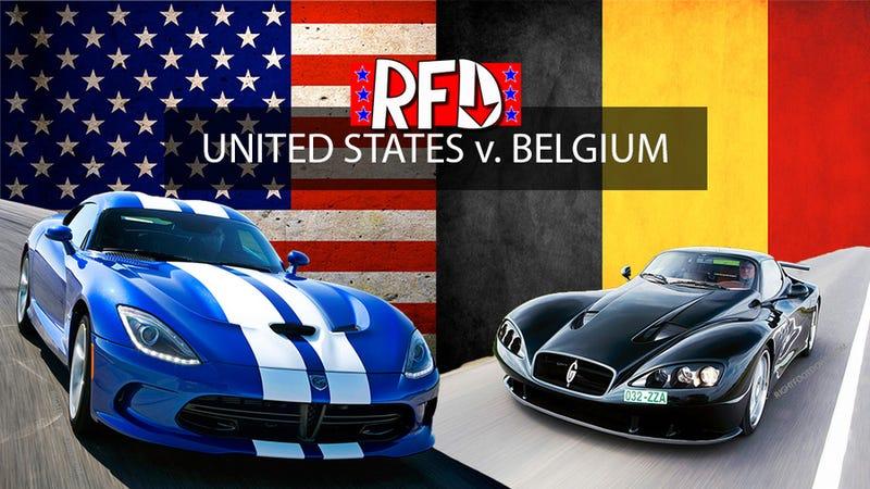 USA vs Belgium – Production cars