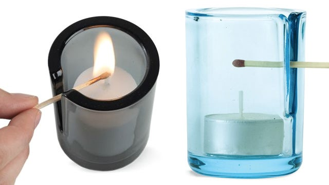 Genius Vented Candleholder Provides Easy Access For a Lit Match
