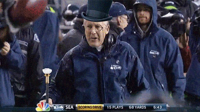 This GIF Of Pete Carroll As A Wealthy Robber Baron Will Make You Smile
