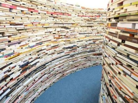 Get lost within the walls of a massive labyrinth made of books