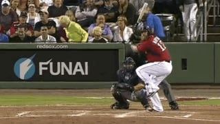 Mike Napoli Mashes Broken Bat Homer