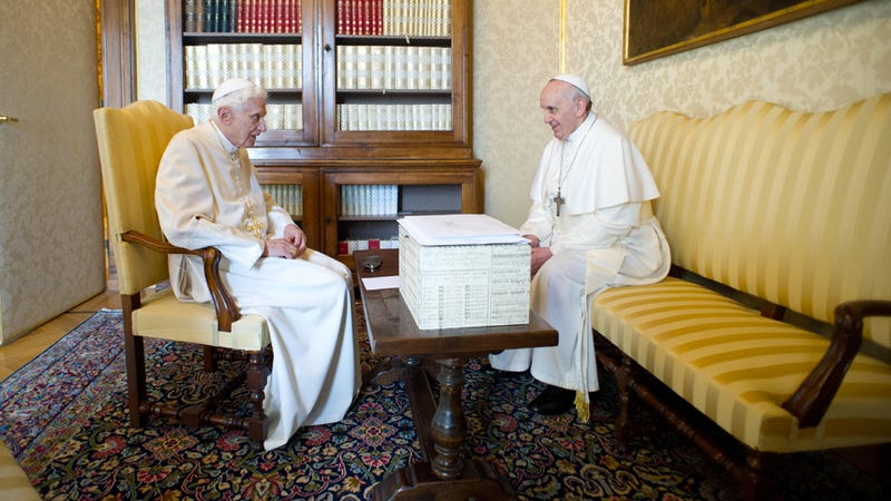 Current and Former Popes Do Lunch, Bro Down