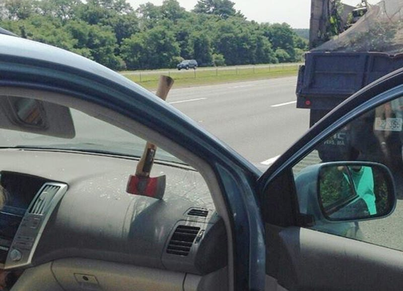 Hey You Know What's Terrifying? An Axe Through Your Windshield