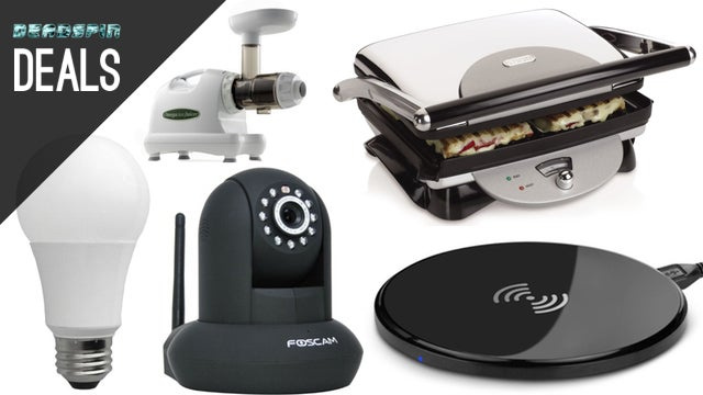 Deals: LED Bulbs, DIY Home Security, the Best Juicer, Panini Press