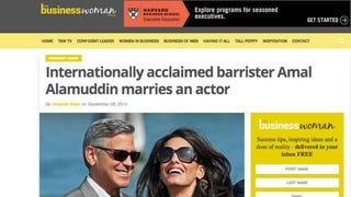 The Best Headline About Amal Alamuddin and George Clooney's Wedding
