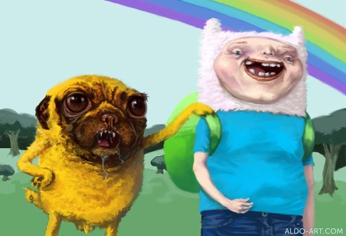 Quasi-realistic Adventure Time portraits are kind of terrifying